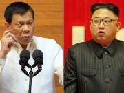 Ông Duterte lần đầu lên tiếng chỉ trích ông Kim Jong-un