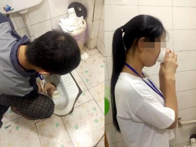 Công ty ở Trung Quốc phạt nhân viên uống nước toilet - 1
