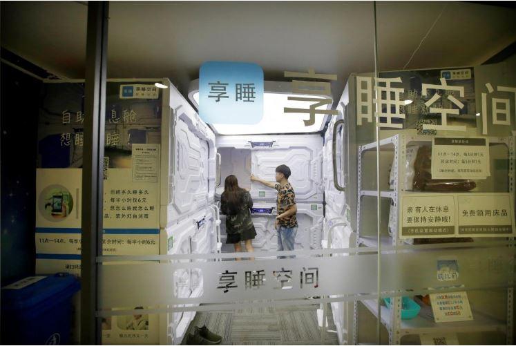"""Có gì trong """"khách sạn tổ kén"""" cho dân văn phòng ngủ trưa ở Trung Quốc? - 12"""