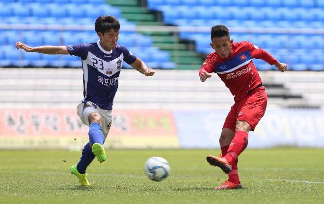 """HLV Hữu Thắng thử quân như Mourinho, U23 Việt Nam """"hủy diệt"""" Mokpo City - 1"""