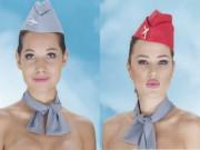 Thế giới - Tiếp viên hàng không Kazakhstan khỏa thân quảng cáo gây sốc