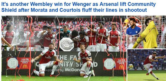 """Arsenal mừng """"ăn 3"""": Báo chí Anh ngợi ca """"Pháo thủ"""" đổ máu đoạt cúp - 1"""