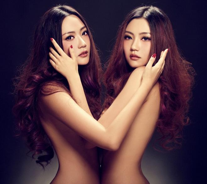 Cặp song sinh nóng bỏng nhất làng mẫu Trung Quốc - 1
