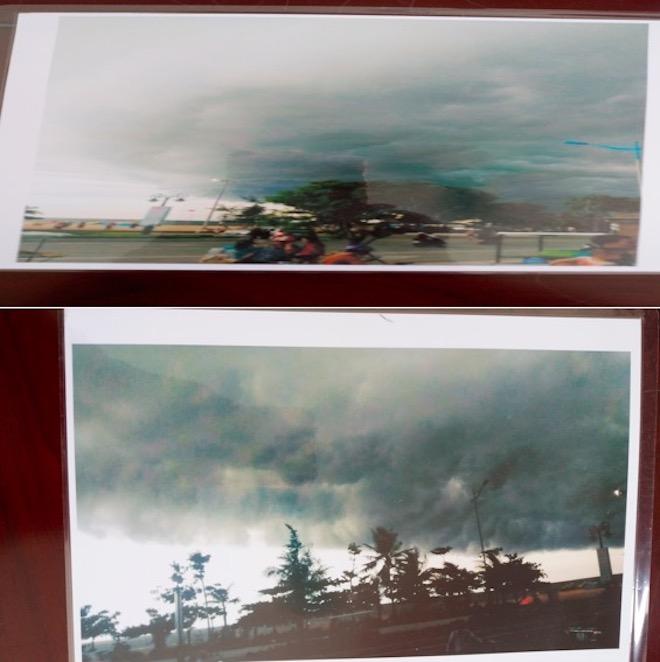 Sự quái lạ của đám mây đen tựa UFO xuất hiện ở Sầm Sơn - 1