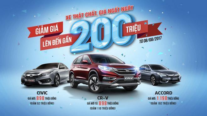 Honda Việt Nam công bố giá mới hấp dẫn cho CR-V, Civic và Accord - 1