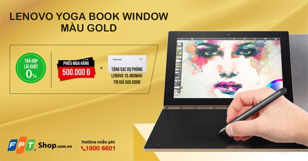Nhận quà liền tay, lựa ngay Yoga Book màu Gold tuyệt đẹp - 2