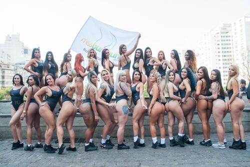 """""""Bàn tọa"""" lớn hơn 107cm hết cửa thi Hoa hậu Siêu vòng 3 Brazil - 1"""