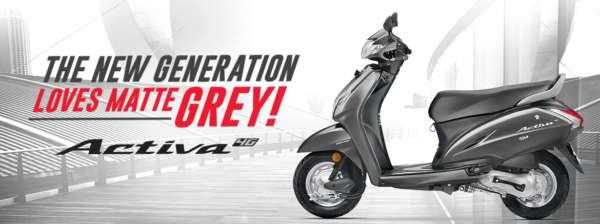 Honda Activa 4G màu xám mờ, giá chỉ 18 triệu đồng - 1