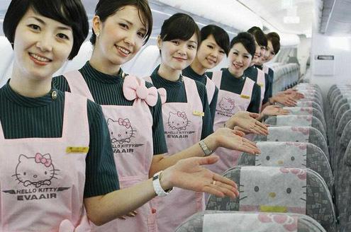 Khám phá máy bay Hello Kitty dễ thương nhất thế giới - 14