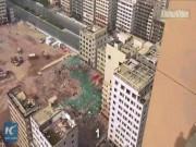 Thế giới - Choáng với cảnh 36 tòa nhà chọc trời sập trong 20 giây ở TQ