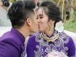 Lê Phương thẹn thùng được chồng trẻ hôn tại lễ cưới