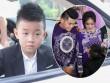 Con trai quấn quýt Lê Phương không rời trong ngày mẹ tái hôn