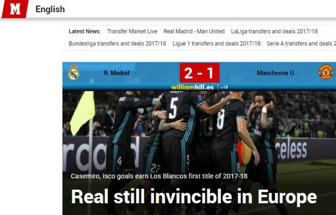 Báo chí thế giới: Real bất khả chiến bại, MU - Mourinho thua tâm phục - 1