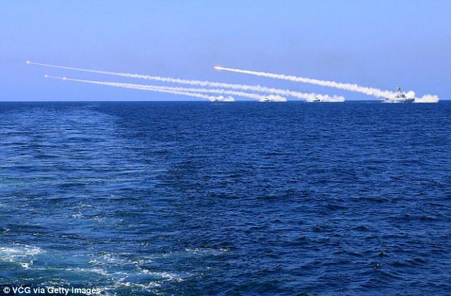 Trung Quốc bắn cấp tập tên lửa gần Triều Tiên - 1