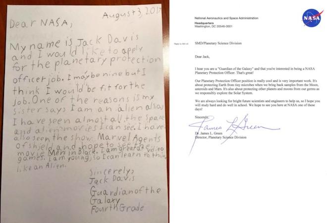 """Cậu bé 9 tuổi xin làm """"vệ binh dải ngân hà"""" ở NASA và cái kết - 2"""