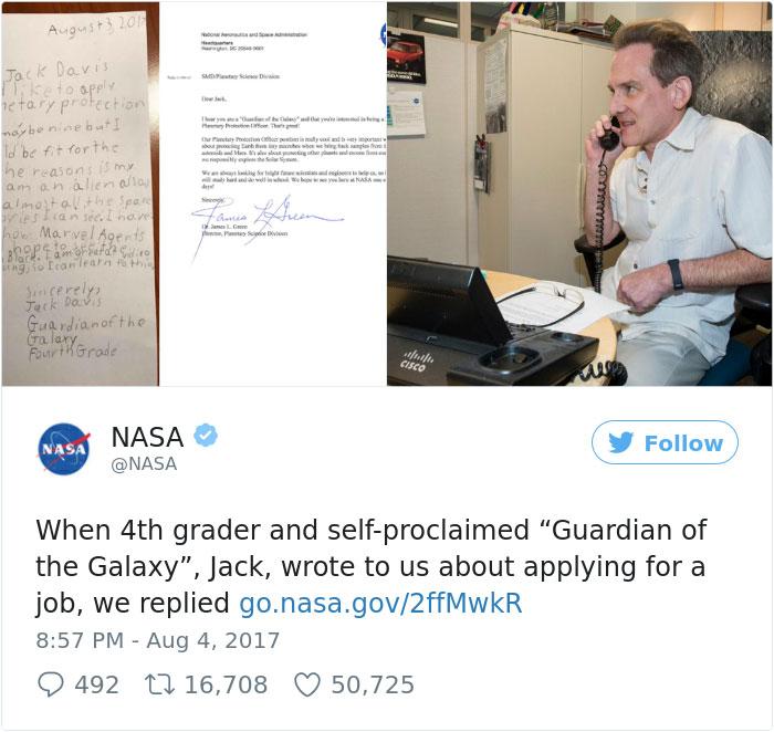 Cậu bé 9 tuổi viết thư xin việc ở NASA và cái kết bất ngờ - 5