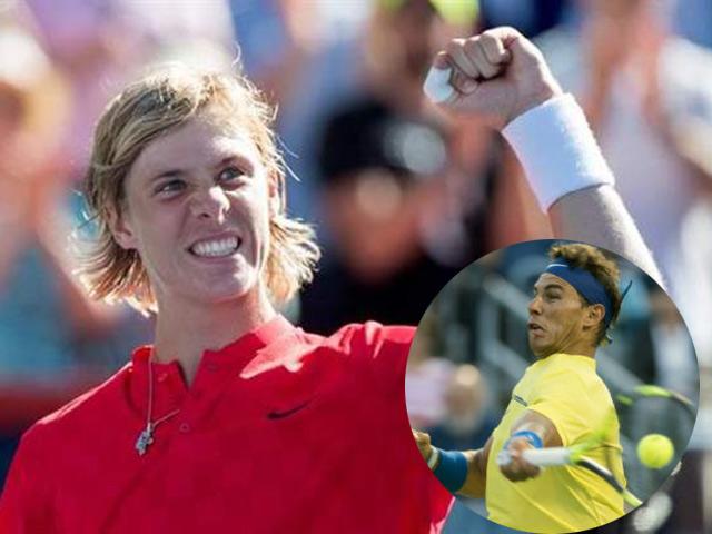 """Clip hot tennis: Mầm non điều bóng ảo diệu, Nadal """"ngã sấp mặt"""""""
