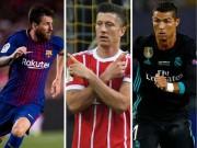 """Bóng đá - Đọ tam tấu châu Âu: Messi, Ronaldo phải nể bộ ba """"S-M-L"""""""