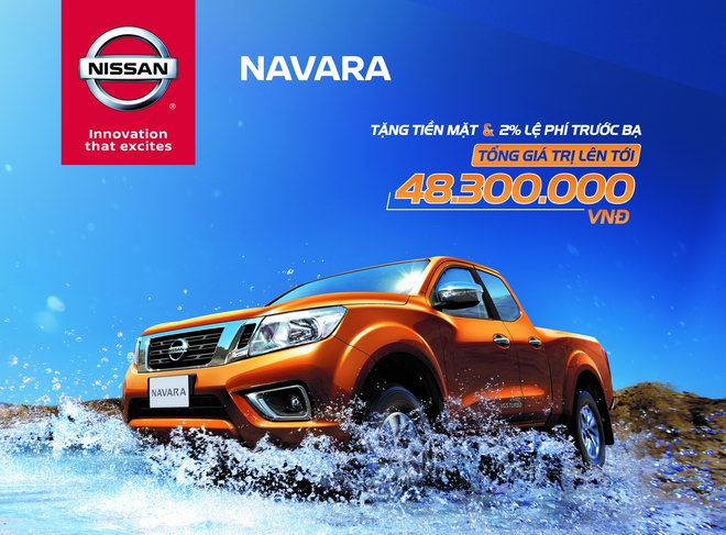 Khuyến mại đặc biệt dành cho Navara EL và Navara VL trong tháng 8 - 2