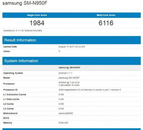 Samsung Galaxy Note 8 rò rỉ thông số quan trọng nhất - 2
