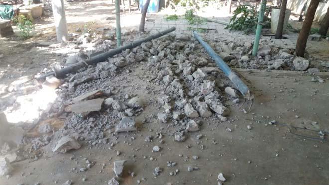 Đổ cột bê tông ở khu du lịch làm 2 người thương vong - 1