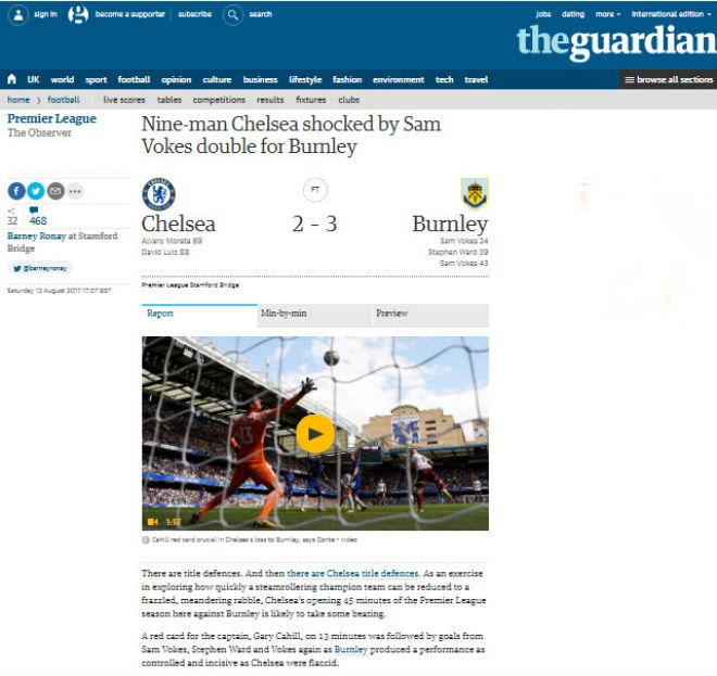 "Chelsea thua sốc: ""Triệu fan"" MU hả hê, báo chí khen Morata, mắng Conte - 8"