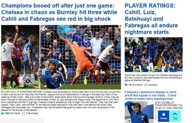 "Chelsea thua sốc: ""Triệu fan"" MU hả hê, báo chí khen Morata, mắng Conte - 7"
