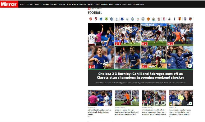 "Chelsea thua sốc: ""Triệu fan"" MU hả hê, báo chí khen Morata, mắng Conte - 6"