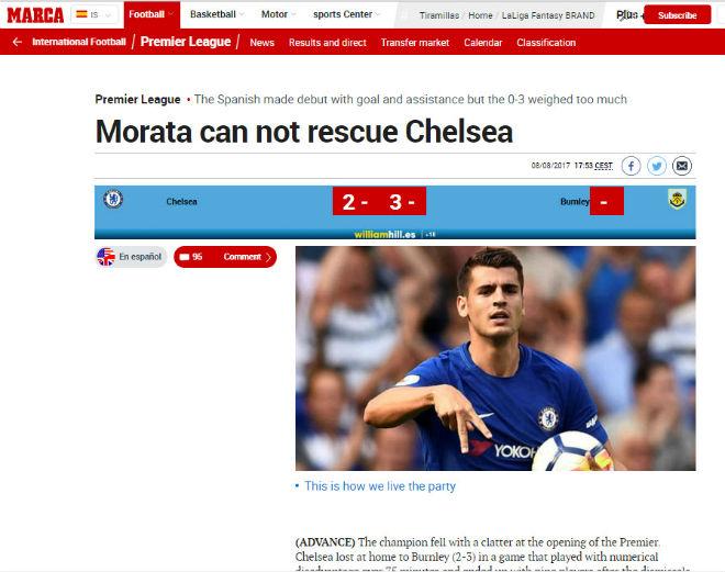 "Chelsea thua sốc: ""Triệu fan"" MU hả hê, báo chí khen Morata, mắng Conte - 10"