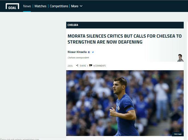 "Chelsea thua sốc: ""Triệu fan"" MU hả hê, báo chí khen Morata, mắng Conte - 9"