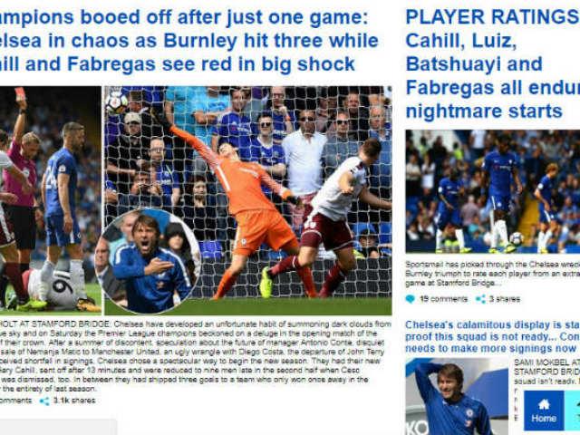 """Chelsea """"vỡ mặt"""": Báo chí thế giới khen Morata, mắng Conte thậm tệ"""