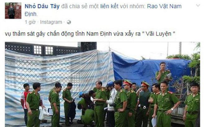 Công an Nam Định bác tin đồn thảm án 8 người chết - 1