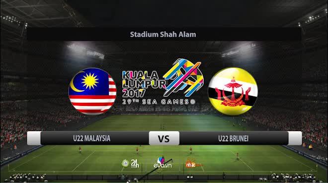"""Chi tiết U22 Malaysia - U22 Singapore: Hai """"cú đấm"""" tối tăm mặt mũi (KT)"""