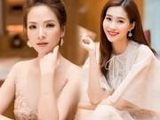 """""""Vợ Phan Hải"""" mặc váy nude đẹp át hai nàng hoa hậu Việt"""