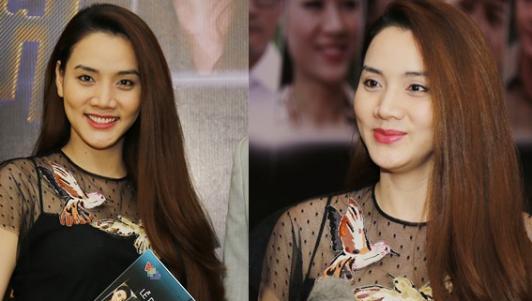 Trang Nhung che khéo bụng bầu 4 tháng khi dự sự kiện