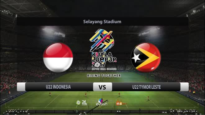 U22 Indonesia - U22 Timor Leste: Rượt đuổi phút cuối, ẩu đả & thẻ đỏ
