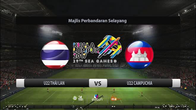 U22 Thái Lan - U22 Campuchia: Thẻ đỏ, Penalty và chiến thắng 3 sao