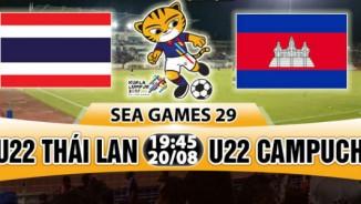 U22 Thái Lan loạn đả U22 Campuchia, sân cỏ dậy sóng