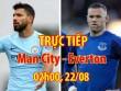 "TRỰC TIẾP Man City - Everton: ""Song sát"" đấu Rooney"