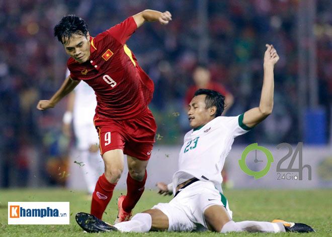 """Công Phượng """"bắn tiếng Anh"""" cứu U22 VN khỏi đòn """"đấu võ"""" của Indonesia - 1"""