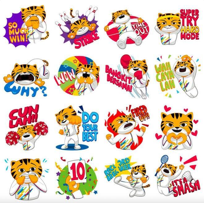 Facebook ra bộ sticker chú hổ Malayan cho SEA Games 2017 - 2