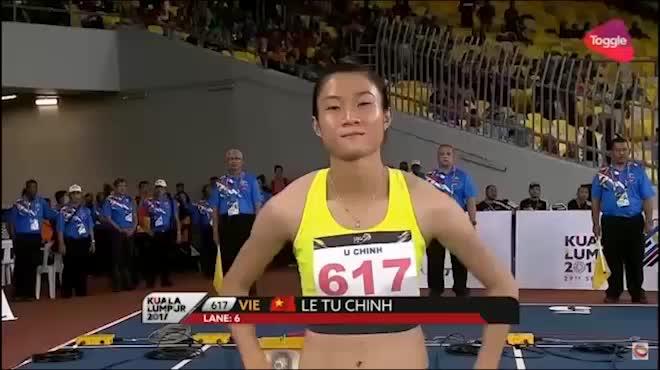 """Nữ hoàng tốc độ Tú Chinh: """"Xé gió"""" 2 ngày 2 HCV 100m, 200m danh giá"""