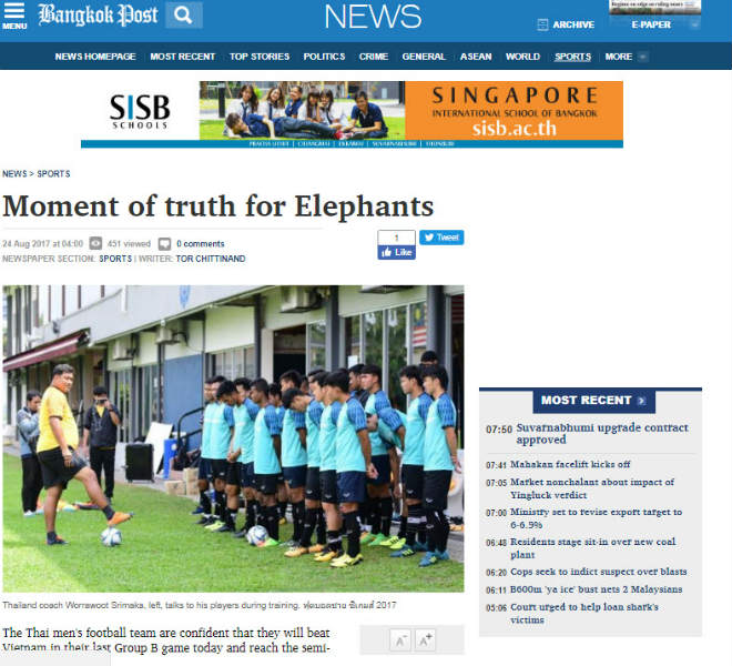 """Báo chí Thái Lan """"vừa đấm vừa xoa"""", e ngại hàng công U22 Việt Nam - 1"""