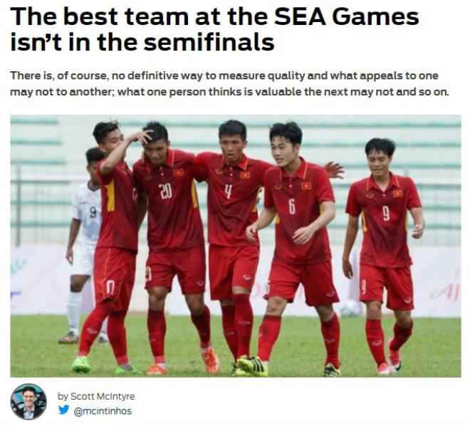 """Báo châu Á """"khóc"""" U22 Việt Nam: Bán kết SEA Games vắng đội mạnh nhất - 1"""