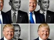 Ông Trump đưa ảnh chế  ' ăn mặt '  ông Obama