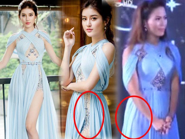 Bất ngờ: Váy hoa hậu Lào giống 99,9% với váy Huyền My