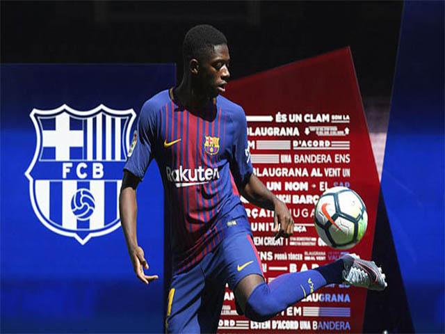 Bom tấn Dembele 105 triệu euro ra mắt Barca: Cùng Messi vào lịch sử