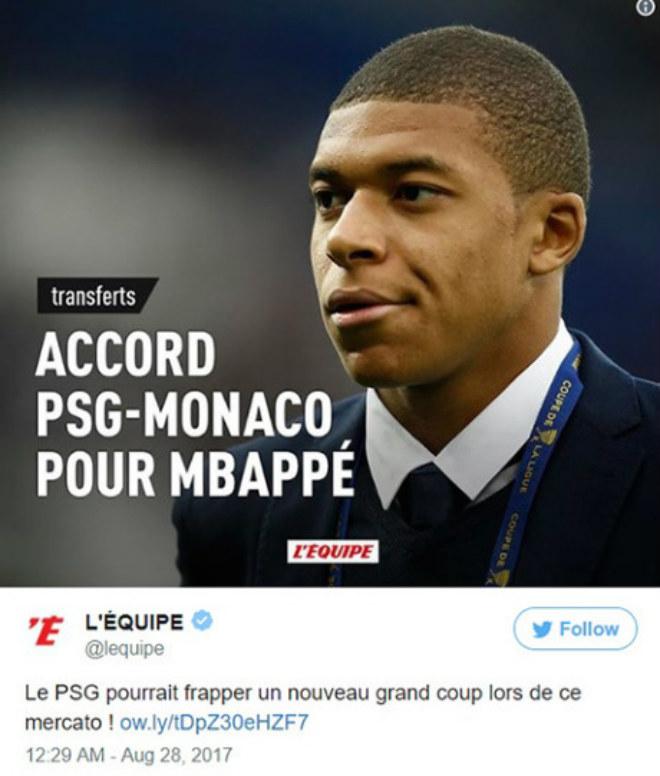 Monaco mua Jovetic, Mbappe sắp đến PSG 180 triệu euro - 2