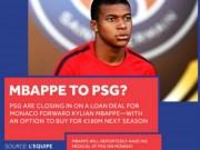 """Bóng đá - PSG """"tháo chốt bom tấn"""": Mbappe 180 triệu euro sắp kiểm tra y tế"""