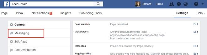 Kích hoạt tính năng tự động trả lời trên Facebook Messenger - 3